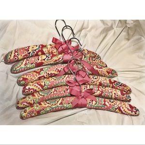 6 Vera Bradley Clothes Hangers in Capri Melon